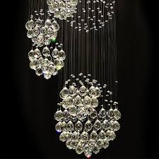 modern large crystal chandelier light fixture for lobby staircase stairs foyer long spiral crystal light re ceiling lamp