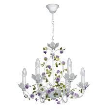 Mw Light Kronleuchter Und Wandleuchte Grün Weiß Metall Floral Stil