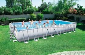 rectangle above ground swimming pool. 956x488x132cm Power Steel And Rectangular Shape Biggest/largest Metal Frame Above Ground Swimming Pools Rectangle Pool