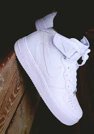 nike air force 1 mid white af1 white