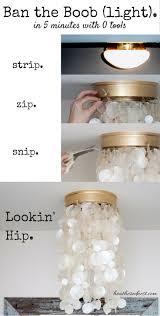2 DIY Light Fixtures/Tutorials to Modernize BOOB light Flush Mounts! BAN  THE BOOBS