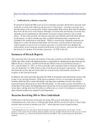 Hipaa Breach Report Submitted To Congress By Dhhs Ocr