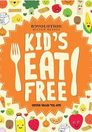 Kids Children Eat Free Menu Flyer Illustration