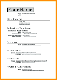 Resume Microsoft Office Resume Templates Free Download
