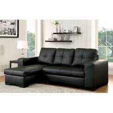 Image Beautiful Leather Alexandrea Reversible Sleeper Sectional Wayfair Chaise Sofa Sleeper Sectionals Youll Love Wayfair