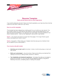 Resume For Someone With No Job Experience Comfortable Resume Template For No Job Experience Gallery 74