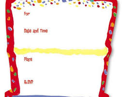 Blank Birthday Invitation Template