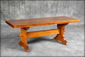 Rectangular Trestle Coffee Table