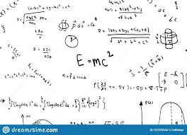 Math Equations Hand Write Scientific Formulas And