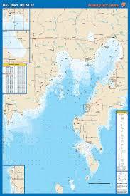 Little Bay De Noc Depth Chart Big Bay De Noc Fishing Map Lake Michigan