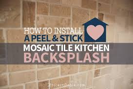 how to install a l stick mosaic tile kitchen backsplash
