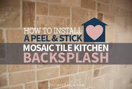 how to install a l stick mosaic tile kitchen backsplash