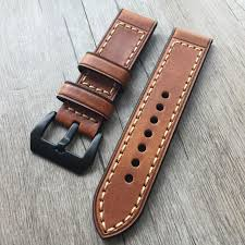band for apple watch series1 2 strap for iwatch belt for panerai style high quality handmade retro leather band 38mm 42mm watch with leather strap wrist