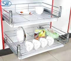 soft closing dish racks kitchen cabinet design wire stainless steel drawer baskets out bunnings cupboard storage