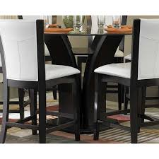 36 Inch Round Table Top Round Glass Dining Table For 4 Kitchen Decor With 5 Piece