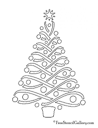 Christmas Tree Christmas Tree Stencil Free Gallery Awesome For