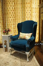 modern wing chairs. Best Wingback Chair For Your Home: Blue Slipcover Modern Wing Back Chairs