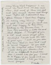 Frida Kahlo Writes A Personal Letter To Georgia O Keeffe After O