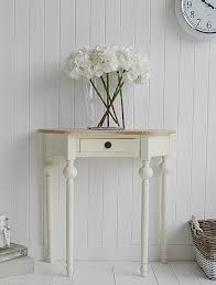small cream console table. Cream Cottage Half Moon Small Hall Table With Drawer. Ideas In Country Home Decorating Console O