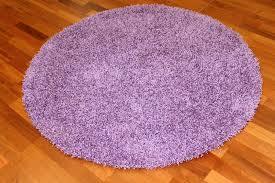 round rug 80 cm fancy purple