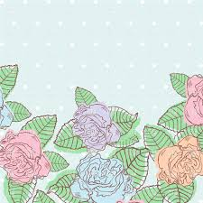 Free Floral Backgrounds Floral Background With Bud Of Roses Invitation In Pastel Colors