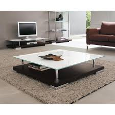 Contemporary Glass Top Coffee Tables Modern Square Coffee Table