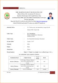 Cv Format For Teaching Job For Fresher Resume Template Example