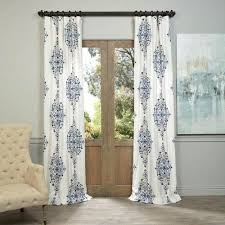 single panel curtain. Arabesque Blue 96 X 50 Inch Curtain Single Panel Half Price Drapes Panels \u0026