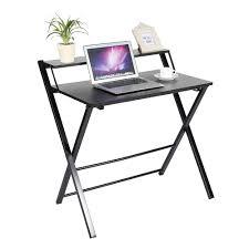 folding computer desk home office laptop desktop table