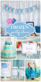A Disney's Frozen birthday celebration with Elsa and Anna, a snowflake cake,  and Melted