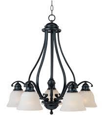 maxim 11815icbk linda 5 light 25 inch black down light chandelier ceiling light in ice