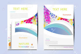 Vector Illustration Creative Magazine Layout Template Flyer Cover