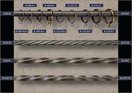 image of wrought iron curtain rods and finials