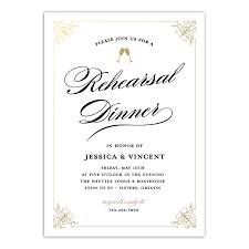 Dinner Invation Personalized Wedding Rehearsal Dinner Invitation Classic Rehearsal 5 X 7 Flat