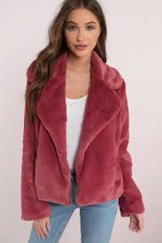 cotton candy bonfire heart mauve faux fur jacket