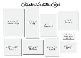 Card Size Chart Wedding Invitation Size Rsvp Envelope Size Chart