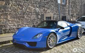 porsche 918 spyder blue. 3 i porsche 918 spyder weissach package blue