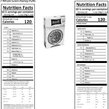 cereal box nutrition facts. Simple Nutrition Cereal Box With NFP1 Left And NFP2 To Box Nutrition Facts O