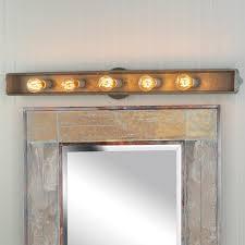 rustic rustic bear vanity light fixture 4 light reclaimed furniture