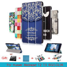 huawei drawing tablet. cy fashion colored drawing pu leather stand case cover shield for huawei mediapad t2 7.0 bgo-dl09 tablet pc with magnetic