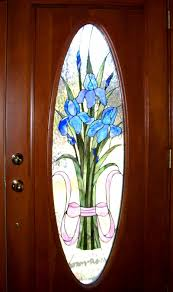 blue iris door interior view