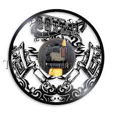 тату студия настенный знак тату салон виниловая пластинка стена Clcok тату магазин