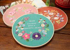 <b>DIY Ribbons Embroidery</b> for Beginner <b>Needlework</b> Practice Kits ...