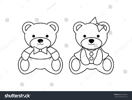 Coloring Pages Wild Animals Outline Cute Stock Vector 648160045 ...