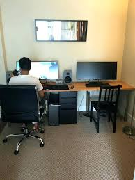office hack. Ikea Hack Home Office For Two Person Desk With Regard To Endearing