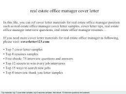 Estate Manager Cover Letter Real Estate Assistant Cover Letter