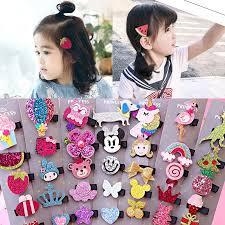 <b>5PCS</b>/<b>Pack</b> Children Hair Clips Cute Handmade <b>Cartoon</b> Bow ...