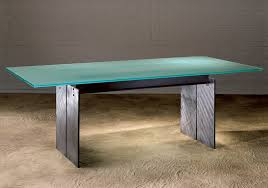 modern glass furniture. Steel And Frosted Glass Top Dining Tables For Modern Room Table Applications With Stone Or Furniture