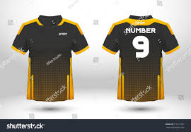 Yellow And Black T Shirt Designs Black Yellow Layout Football Sport Tshirt Stock Vector