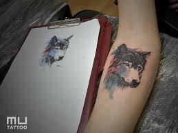 Tetování Watercolor A Vlk Tetování Tattoo